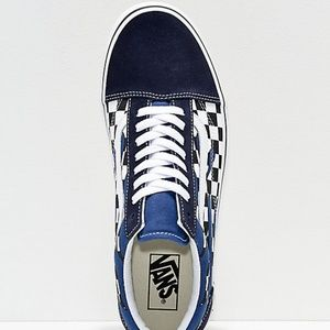 2d7d87b109a523 Vans Shoes - Vans Old Skool Checkerboard Flame Navy White Shoes